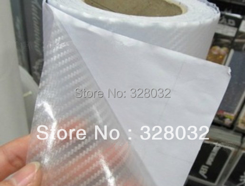 transparent coor 3D Carbon Fiber Flexible Vinyl Film Car wrapping Sticker 1.27m*30m/roll 0.12mm thickness Fedex Free shipping(China (Mainland))