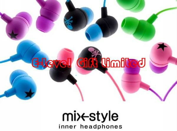 #A0072 DHL Free Shipping 170pcs/lot 3.5mm Mixstyle Stereo Earphone Stars Headphone for MP3, iPod Headset Earpiece(China (Mainland))