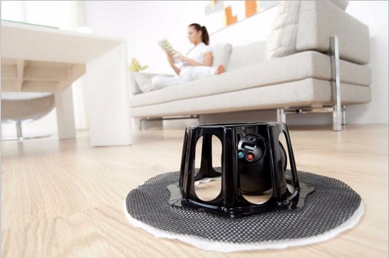New Robomop Robotic Automatic Floor Sweeper cleaner EU Socket As Seen on TV(China (Mainland))