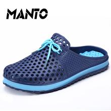 Hommes pantoufles jardin chaussures d'été respirant sandales jardin plage plat avec chaussures hommes mode Mules sabots pantoufles EVA matériau(China (Mainland))