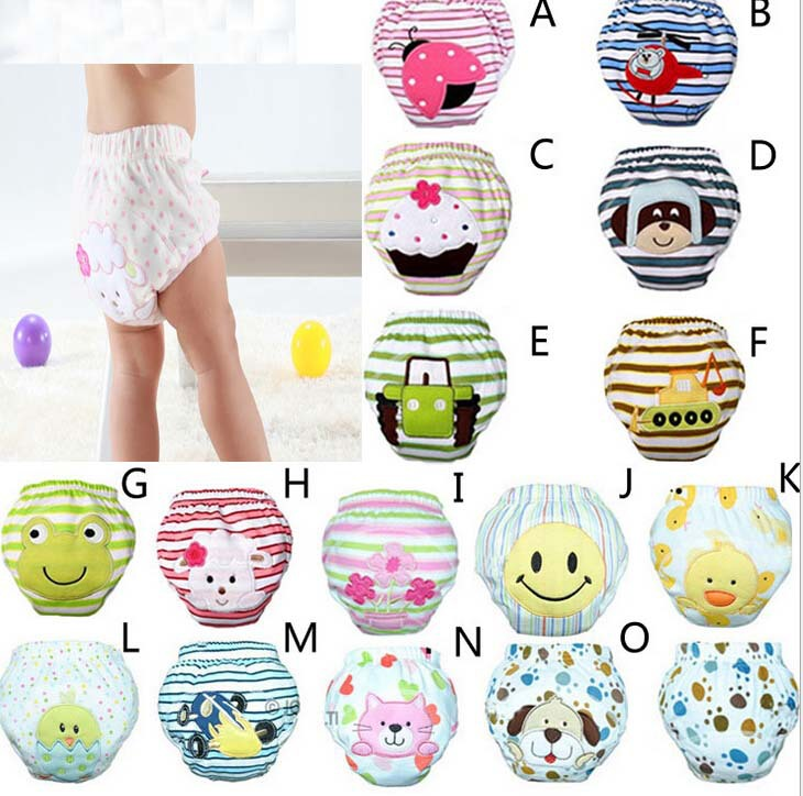 4pcs/lot toilet training pants for baby potty training panties newborn briefs underpants infant diaper free shipping(China (Mainland))