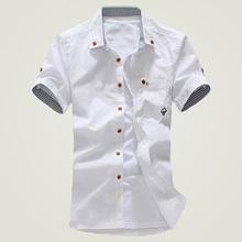 2015 men short sleeve shirt summer short-sleeve slim shirt cusual Summer Style camisa social  Cotton men shirt(China (Mainland))