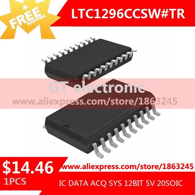 Free Shipping IC Integrated Circuit LTC1296CCSW#TR IC DATA ACQ SYS 12BIT 5V 20SOIC LTC1296CCSW 1296 LTC1296 1pcs(China (Mainland))