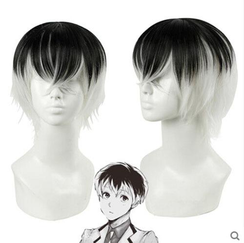 black white Gradient Tokyo Ghoul Sasaki Haise Kaneki Ken Anime harajuku anime perucas cosplay wig realheat resistant halloween - HangZhou BOBO Cosplay Co., Ltd store