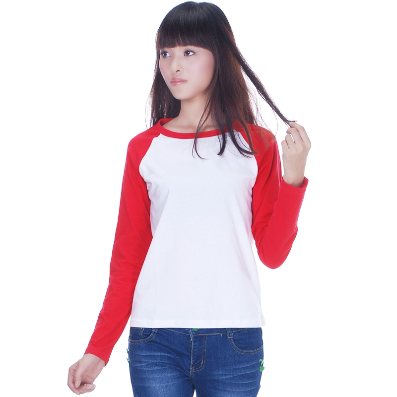 2015 autnmu long sleeve raglan t shirt in women 100 for Women s 100 cotton long sleeve tee shirts