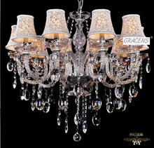 NEW! D800mm H700mm 10 Arms Contemporary Crystal Chandelier Luster Lamp with K9 Crystal (B CCTL7089-10S) Free Shipping(China (Mainland))