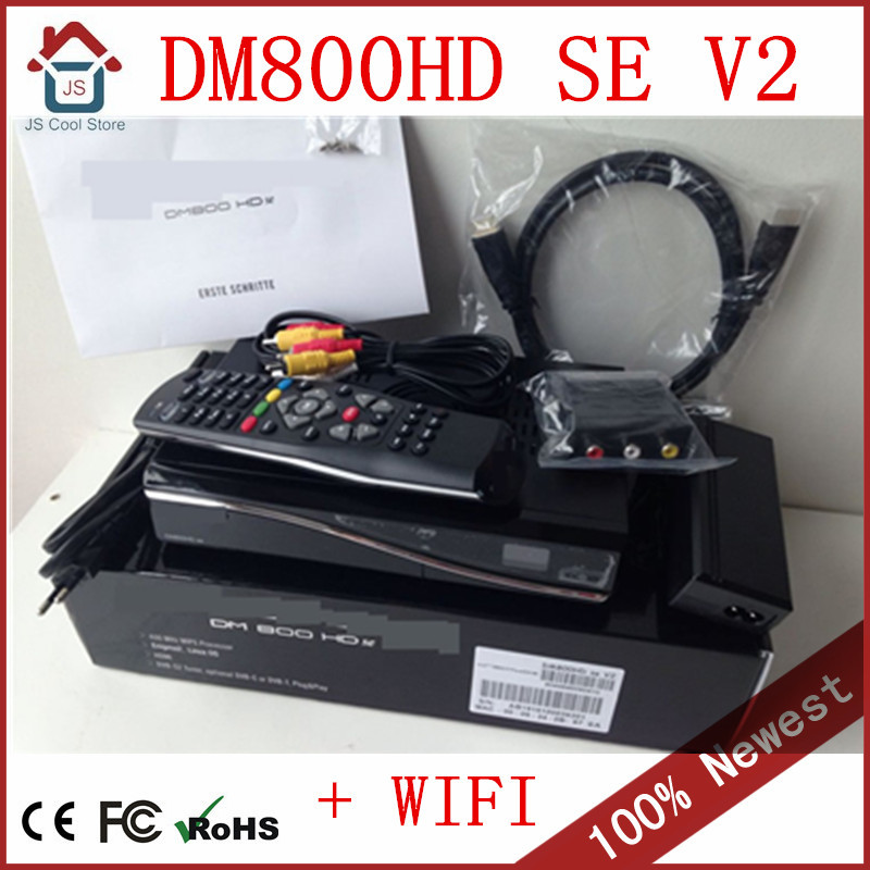 Factory wholesale dm800se v2 cable receiver WIFI Satellite TV receiver HDD recorder lowest price(DM800HD SE V2 SIM2.20)(China (Mainland))