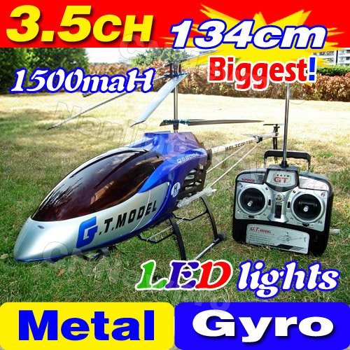 Free Shipping 3.5CH Biggest 53' 134CM Large Big Radio Remote Control Electric Gyro Metal RTF RC Helicopter LED G.T. QS8006 8006(China (Mainland))