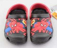 Bambini zoccoli spider man sandali per ragazzi/bambini 3d del modello del fumetto spider man anti skid suola scarpa giardino/capretti di modo zoccoli scarpa  (China (Mainland))