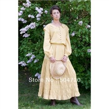 Victorian Period Gown Prom Reenactment Long Dress