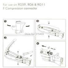 Professional Compression Crimping Tool H548A RG6 RG59 RG11 COMPRESSION TOOL COAX COAXIAL CRIMPER F RG6 CONNECTOR