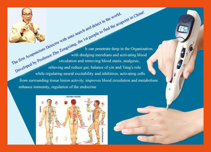 Acupuncture pen is a portable family self treatment through the meridians of the health care experts(China (Mainland))