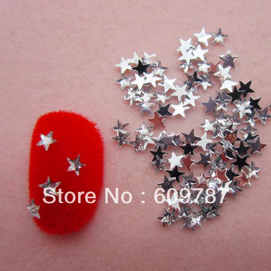 Free Shipping 10000pcs/lot Clear Flatback star nail art Rhinestone stone decorations