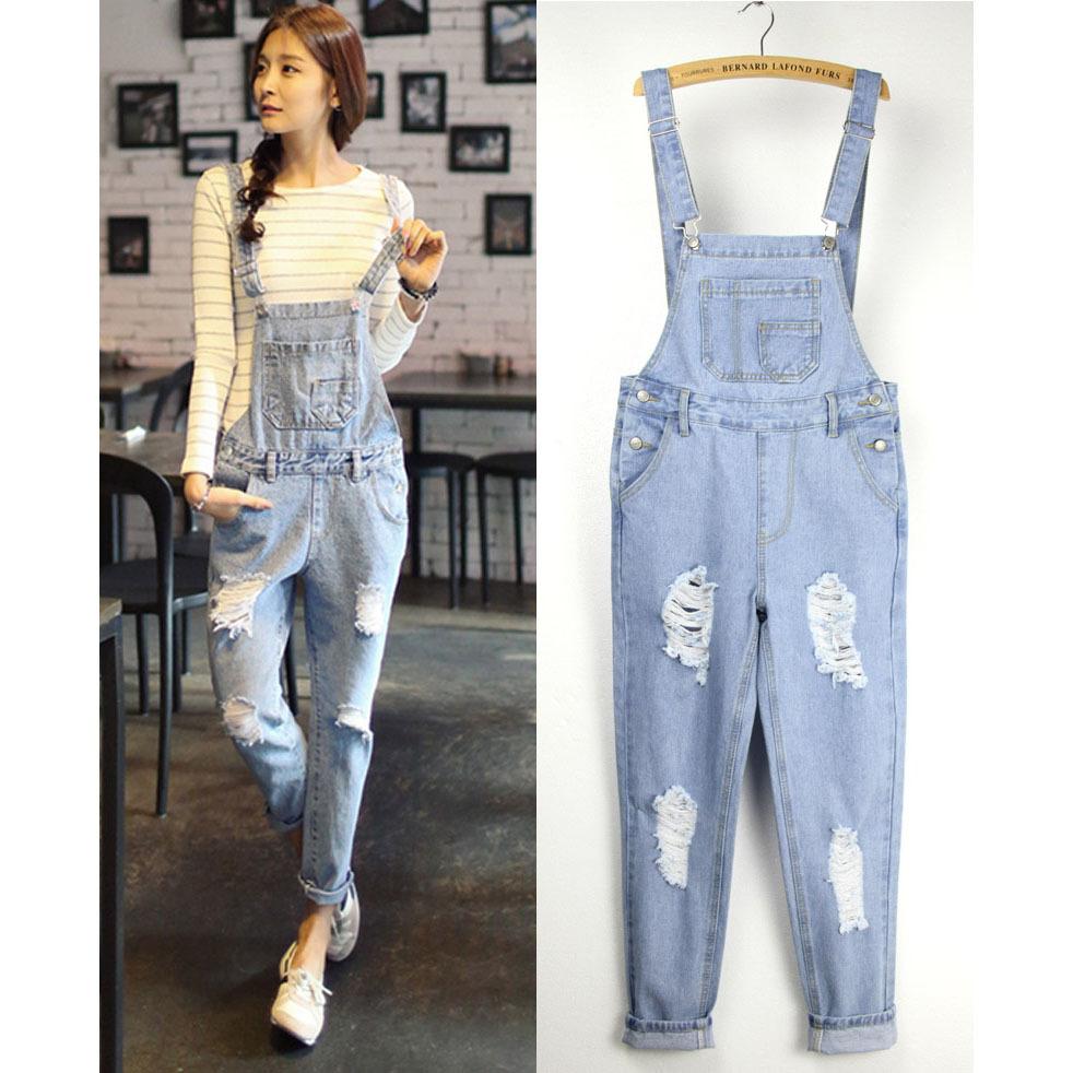 Комбинезон джинсовый женский широкий