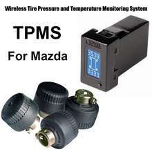Wireless Tire Pressure Monitoring System Car TPMS for Mazda with 4pcs External sensor