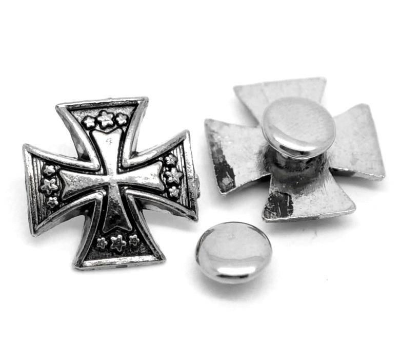30 sets cross flower metal decorative spikes rivets studs for Fashion designer craft sets