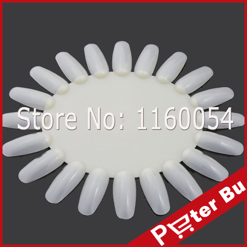 False Tips Display 1 X Nail Art Acrylic Practice Wheel Board DIY Nail Tool Newest Brand New No1 White(China (Mainland))