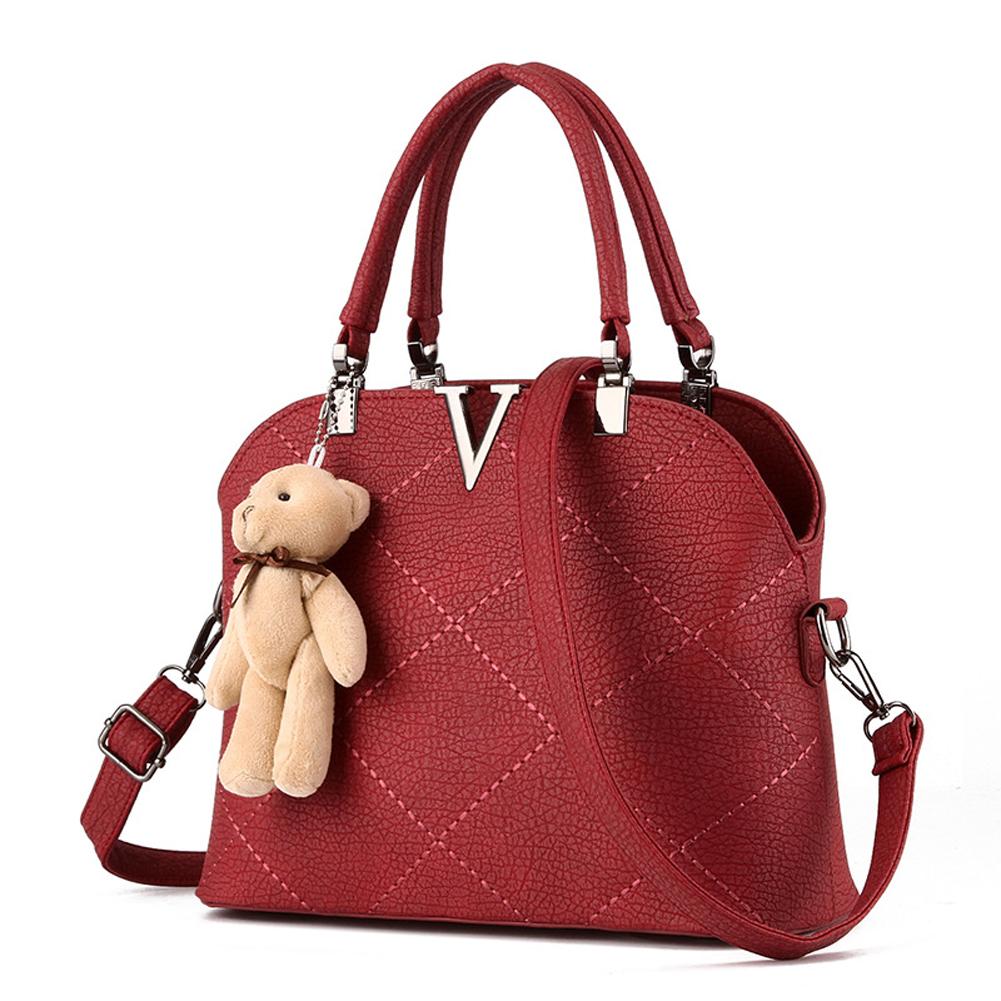 MULTIPLE USED - 2016 best seller V handbag Women shoulder Bag little bear doll totes cross body bags(China (Mainland))