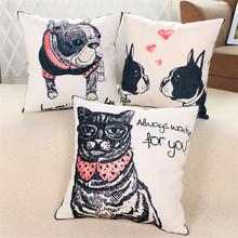 Dog Cat Cushion Covers Throw Pillow