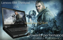 laptop lenovo used  Thinkpad T520 15.6 inch laptop computer Intel Core I7 3.2GHZ 320GB+64GB  WIFI windows 7 laptop notebook 59.1(China (Mainland))
