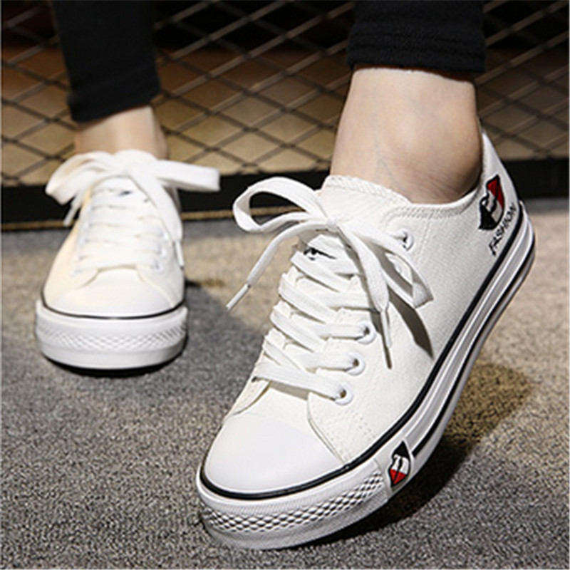 2015 spring and summer low shoes casual single shoes skateboarding shoes lovers canvas shoes female shoes white