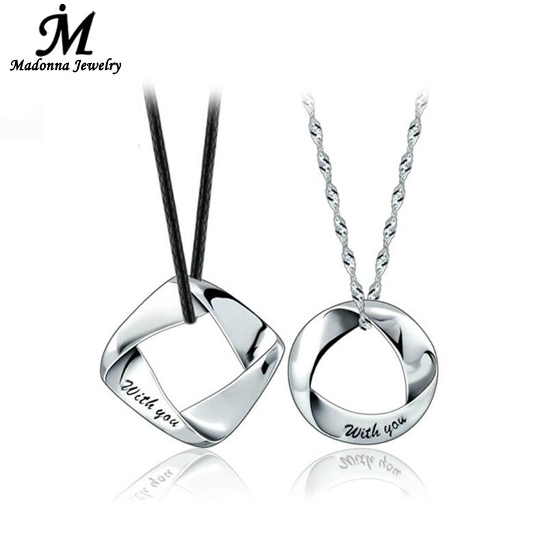 Romantic Lover Silver plated Pendant For Men Floating Charm Couple Letter Pendant Women Silver Jewelry Wholesale(China (Mainland))