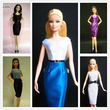 Handmade Doll dress gown Clothes Skirt for barbie Doll , office lady series(China (Mainland))