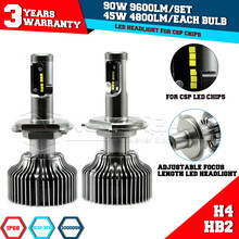Super Bright H4 HB2 Hi/Lo Beam P7 Led Car Headlight Conversion Kit Fog Lamp Bulb DRL 90W 9600LM 6000K 10V/30V DC D25 - Guangzhou Wangyi Trade Co., Ltd. store