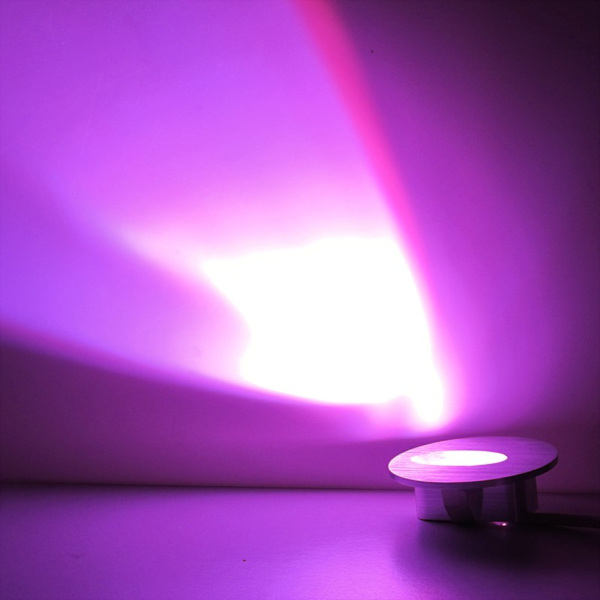 Free shipping new decor 1w 90lm power purple led wall for Light purple bathroom accessories