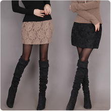 DEMONSTY;LE Zg2012 sweet lace slim hip skirt lady's skirt half-length short skirt women's skirt(China (Mainland))