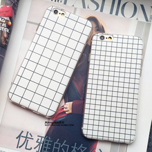 Retro Phone Case for Apple iPhone 7 7Plus 6s 5 5se 6 Plus Grid Design Luxury Soft Silicone Protective Shell Cover Phone Bags(China (Mainland))