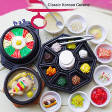 Classic Korean Cuisine Set - Kawaii Orcara 1:12 Dollhouse Miniature Food Scene Children Kids Plastic Play Food Kitchen Toy Set  (China (Mainland))