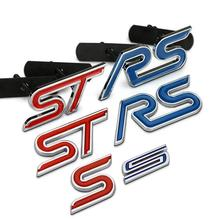 S ST RS Chrome Metal Refitting Styling Car Emblem Badge Auto Exterior Decal 3D Sticker Grille FORD Focus Mondeo - Xinsheng Store store