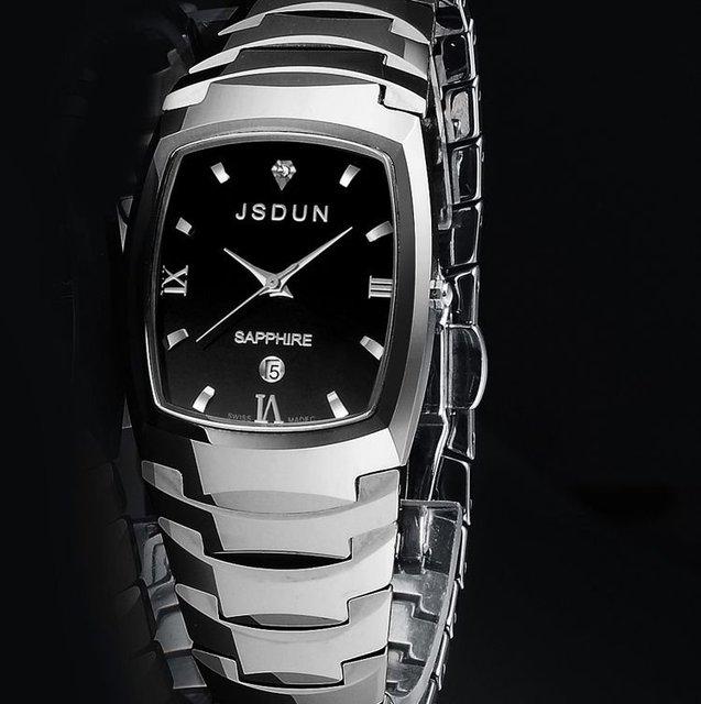 JSDUN Brand Watch Women and men Tungsten Watches scratchproof sapphire glass classic high quality pure tungsten carbide 8608