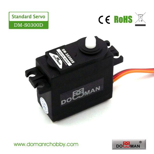 4pcs/lot DOMAN RC plastic gear with 2 ball bearing standard digital servo for 1/10 radio control car(China (Mainland))