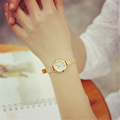 Bgg Luxury Women Super Slim Watch Analog Quartz Watch Ladies Gold Bracelet Bangle Wristwatch Mesh Stainless