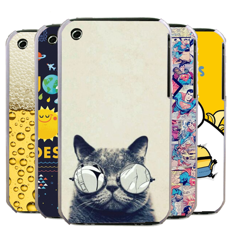 New 2015 Fashion Colorful Painting Hard PC Plastic Cell Phone Case For Apple iPhone 3 3G 3GS Shell Back Cover+Gift(China (Mainland))