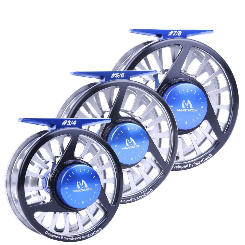 Maxcatch Fly Fishing Reel 3-8WT Fly Reel Machined Aluminium Micro Adjusting Drag Fly Fishing Reel(China (Mainland))