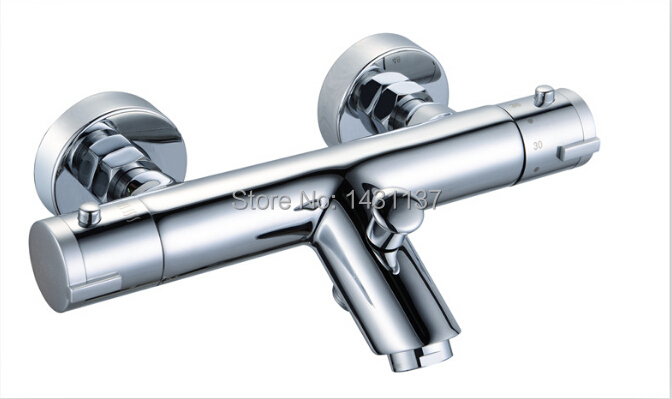2015 new arrival high quality brass material chrome finished Auto-thermostatic control bathroom bathtub faucet(China (Mainland))