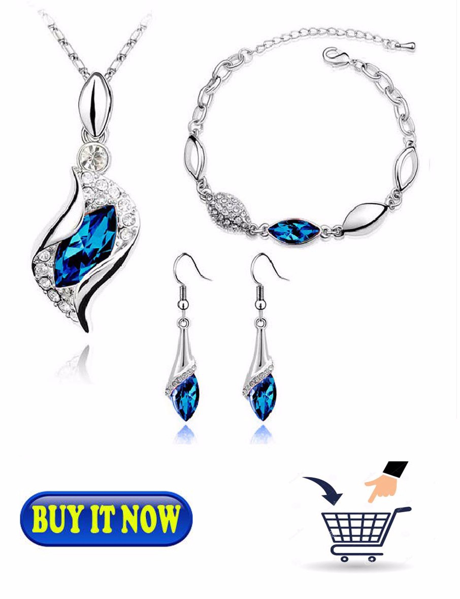 fashion new silver plated jewelry set