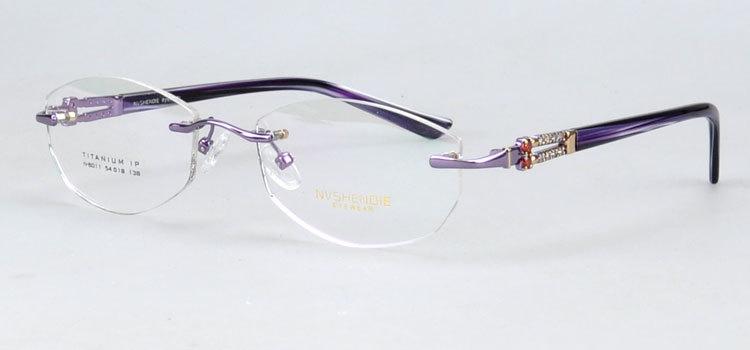 Rimless Glasses High Prescription : N8011 Popular Rimless high quality metal eyeglasses for ...