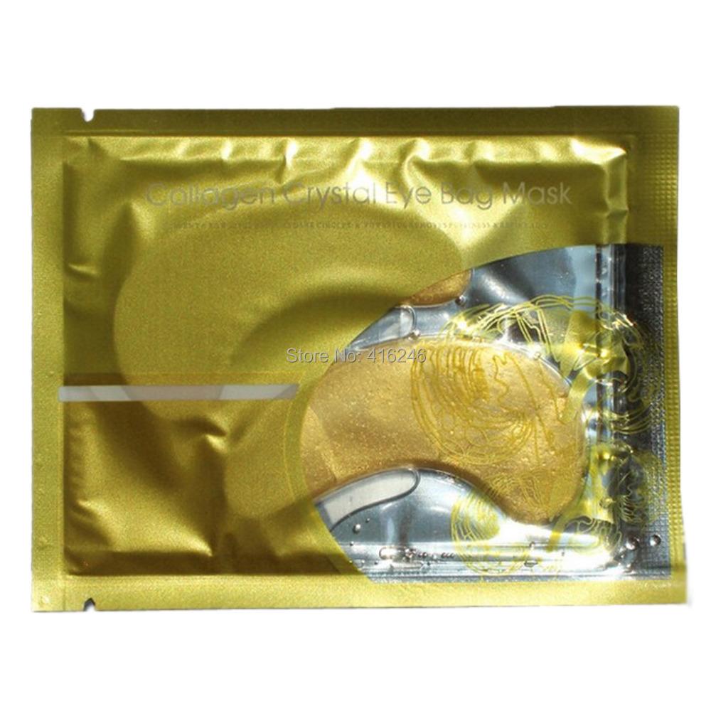 Women Men Crystal Collagen Gold Powder Eye Mask Anti-Puffiness Dark Circle Anti-Aging 100pieces(50pairs) wholesaler(China (Mainland))