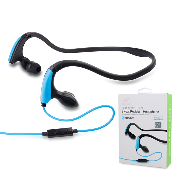 3.5mm mp3 Headphone Jack ! Wholesaler And Retailer Stereo Waterproof Sports gaming headset Earphones For iphone Cellphone/MP3 4(China (Mainland))