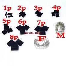 dupont kits 10 Values From 1P To 8P 2.54MM Pitch Dupont Housing + Dupont Male & Female Terminal Assortment Kit(China (Mainland))