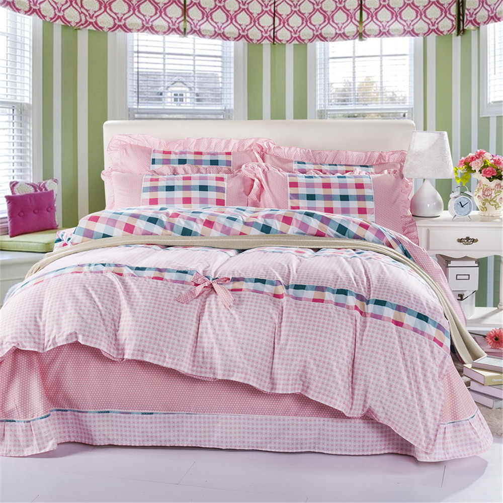 Online kopen wholesale pink korean style bedding set uit china ...