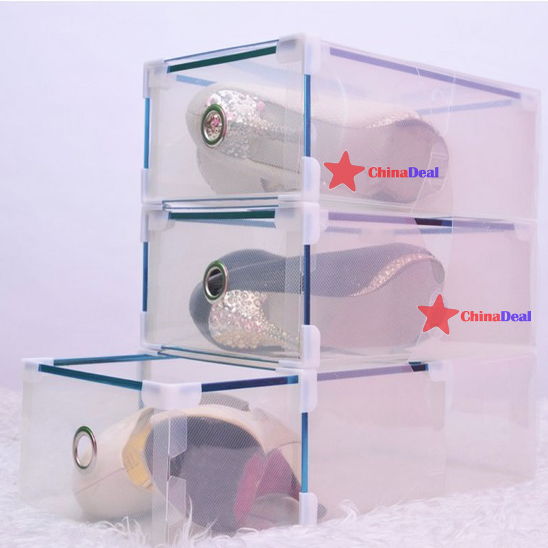 chinadeal Fitness!! Hot Colorful Storage Drawer Container Organizer Case Foldable Plastic Shoe Box quickly(China (Mainland))