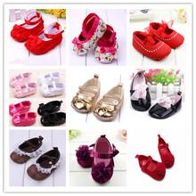 Lovely Toddler Baby Girl Soft Sole Flower Prewalker Crib Shoes NEW SM67