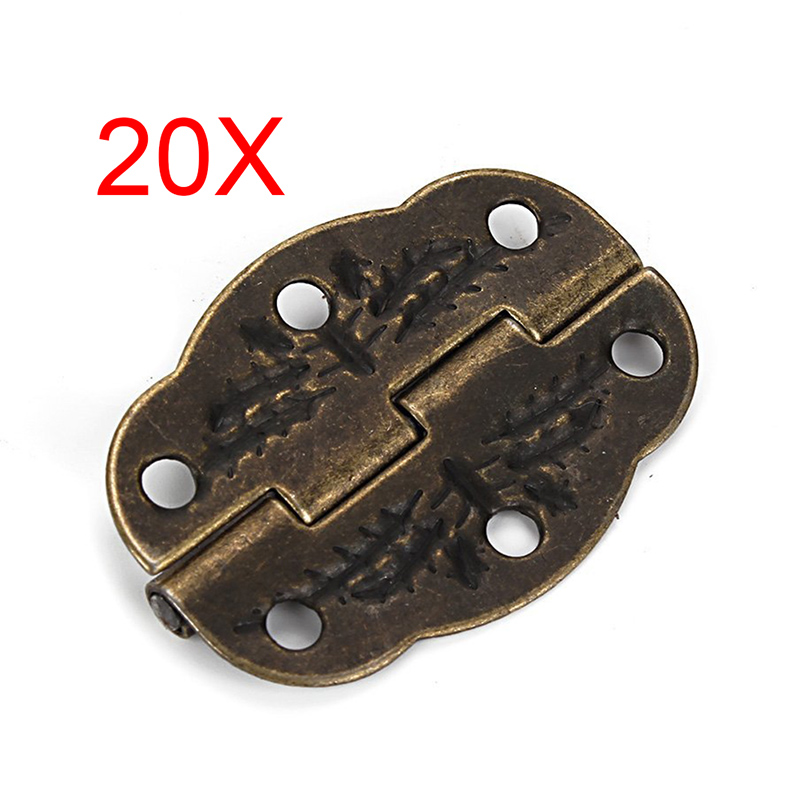 Hot-sale Vintage Bronze Engraved Designs Hinges Cabinet Drawer Jewelry Box Pack 20pcs CLH(China (Mainland))