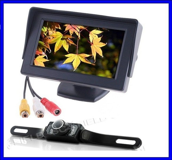 "4.3""car rear view system,parking assistance system+work with parking sensors for retail/set free shipping!"