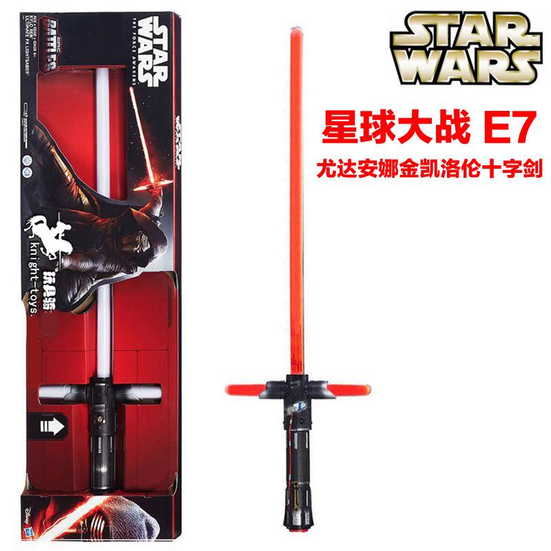 Star Wars:the Force awakens E7 1: 1 cross laser sword<br><br>Aliexpress